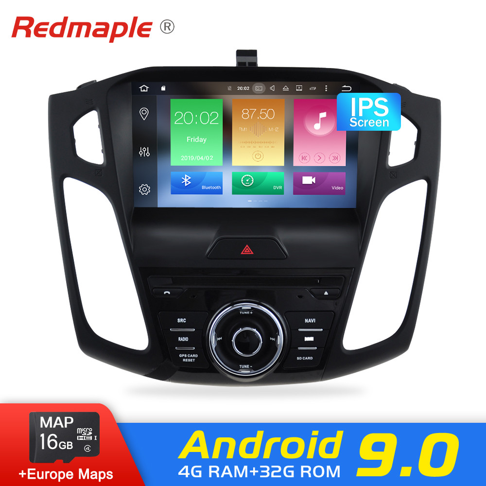 Android 9.0 Car Radio GPS Player For Ford Focus 2015 2016 2017 Audio DVD Navigation Multimedia WIFI Bluetooth Video StereoAndroid 9.0 Car Radio GPS Player For Ford Focus 2015 2016 2017 Audio DVD Navigation Multimedia WIFI Bluetooth Video Stereo