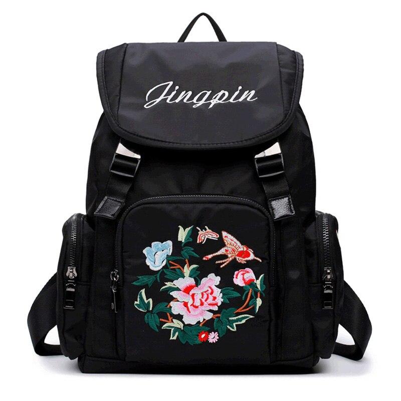 Newly Backpack Women Children Schoolbag Back Pack Embroidery Ladies Knapsack Laptop Travel Bags for Teenage Girls women leather backpack designer backpacks for teenage girls schoolbag embroidery leisure travel rucksack knapsack women s bag5v4