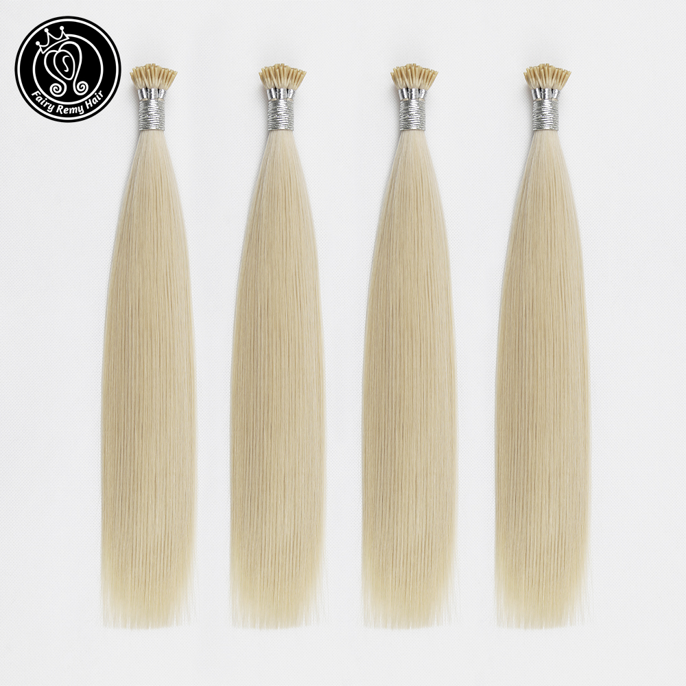 Fairy Remy Hair Remy Human Fusion Keratin Hair Stick I Tip Pre Bonded Capsules Double Drawn Human Hair Extensions 0.8g/s 14 Inch