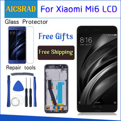 For Xiaomi Mi 6 Mi6 LCD Display With Touch Screen With Frame Digitizer Assembly NEW For 5.15