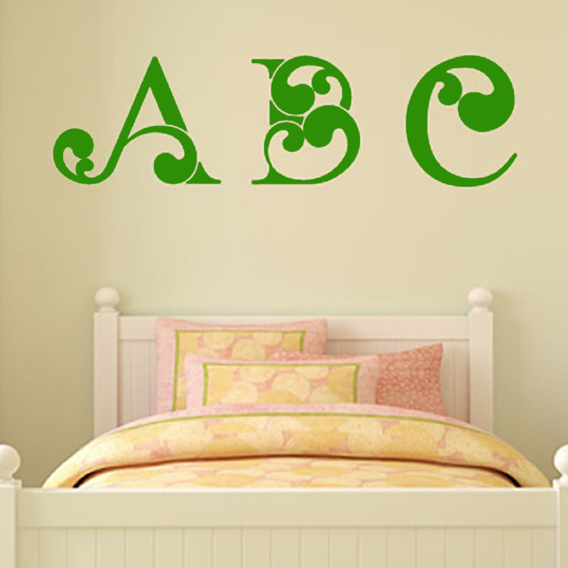 DCTOP High Quality Kids Wall Decal Vinyl Art Word ABC Letters Wall ...