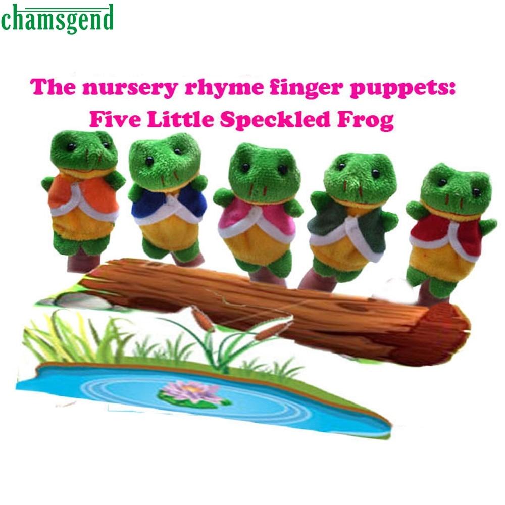 HOT 5 Pcs Finger Even, Storytelling, Good Toys, Hand Puppet for Babys Gift AUG 30