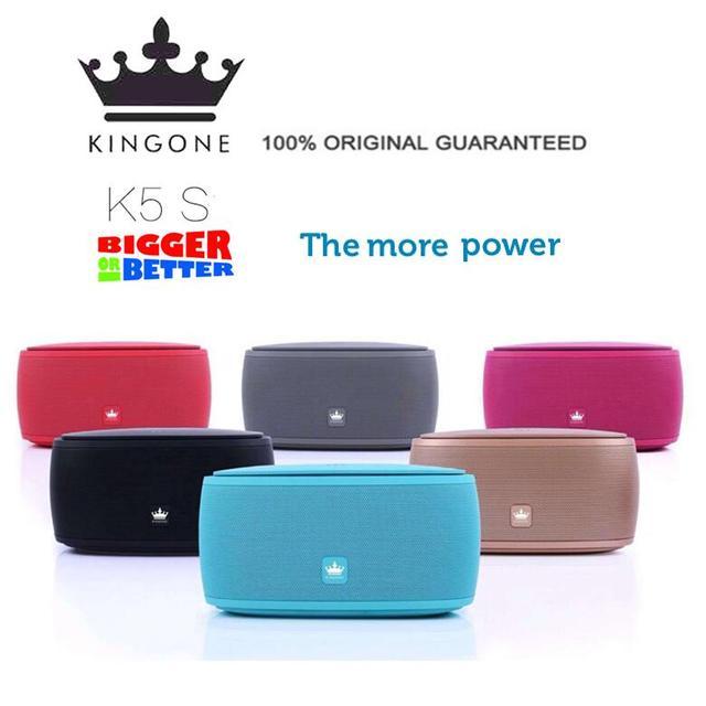 Original Upgrade KingOne K5S Big Stereo 15W Bluetooth Speaker,Luxury Bass Touch K5 Subwoofer TF card Play Hands-free Mic Speaker