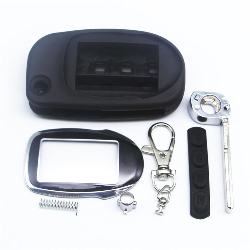 Case For Scher-Khan Magicar 7 8 9 10 Fold Uncut Blade Fob Case Cover M7 M9 Folding Car Flip Remote +Keychain Glass