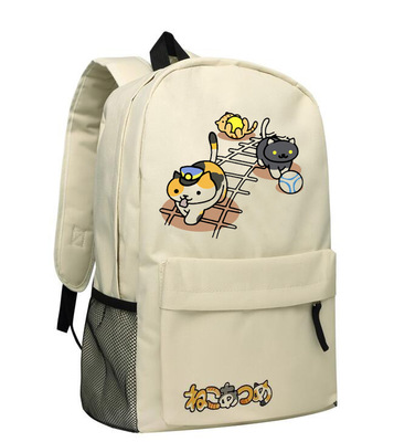 Anime Neko Atsume Cosplay Cartoon student campus men and women backpack casual large capacity backpack child birthday gift anime assassination classroom cosplay fashion casual men and women travel bags birthday gift