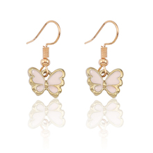 Creative DIY Cartoon Insect Animal Earrings Ladies Cute Kawaii Golden Dragonfly Butterfly Pendant Mini