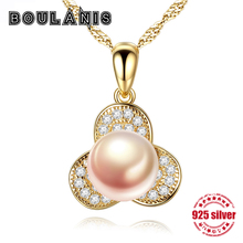 Boulanis S925 sterling silver necklace pendants wild boutique natural freshwater pearl Joker jewelry necklace send lover