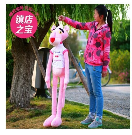 stuffed animal 100 cm pink panther with cloth plush toy soft leopard doll gift w1837 футболка toy machine leopard brown