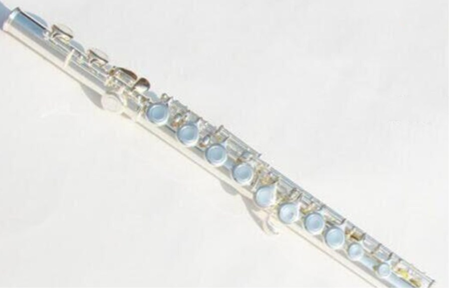 Инструменты Флейта серебро флейта C мелодия 16 отверстия музыкальный ключ E высокое качество Флейта музыка бесплатная доставка