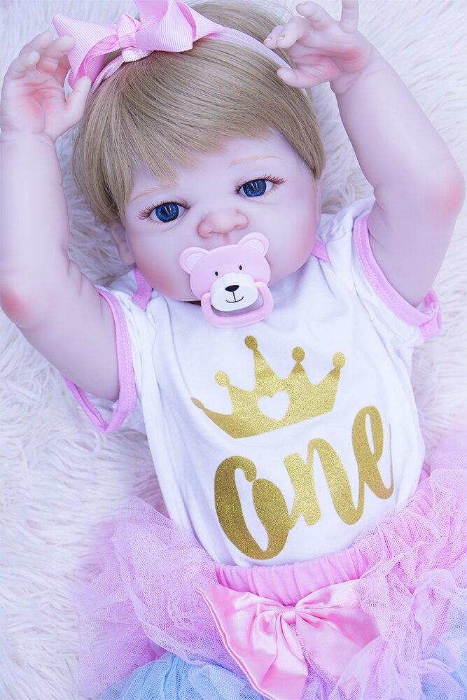 22''DOLLMAI bebe vrai reborn poupées 100% silicone vinyle reborn bébé poupées pour fille meilleur cadeau de fête lol bonecas jouer maison bricolage jouet