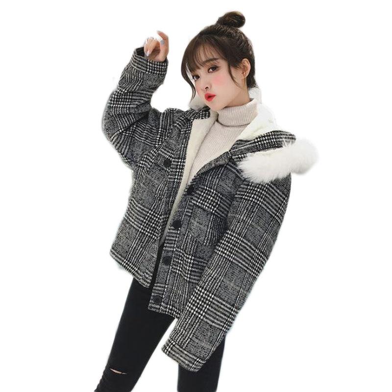 Capuche Cachemire Femme A094 Pour Manteau Grey Casual Unique Col D'hiver Laine Poitrine De xR1gt5