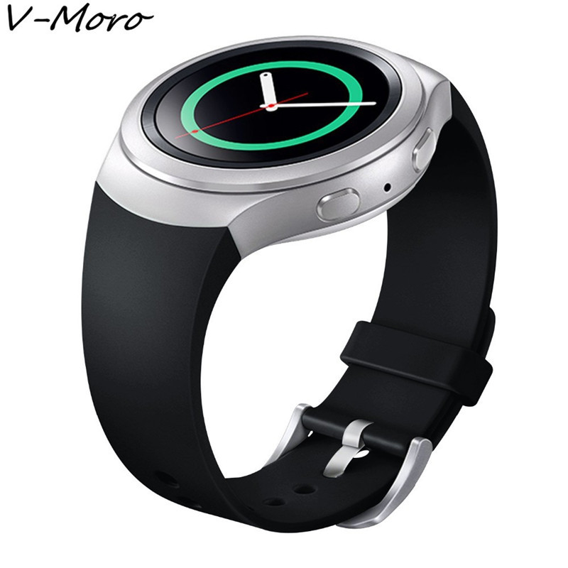 V-MORO Soft  Rubber Silicone Sports Bands for Samsung Gear S2 Band Wrist Strap Replacement Watch Band For Samsung Gear S2 Watch large small size sport silicone replacement watch wrist strap bands for samsung gear fit 2 r360 watch band conjoined watch band