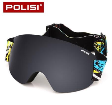 0b3e2f01bf4df POLISI Óculos De Esqui Profissional Lente Dupla Camada Anti-Nevoeiro óculos  de Esqui Óculos de Proteção UV Inverno Snowboard Óculos de Neve