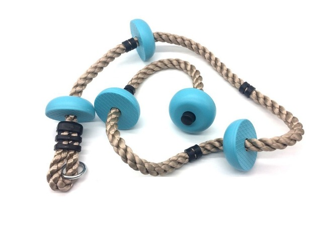 Children Kids Five Knotted Disc Climbing PP Rope Baby Garden Playground  Backyard Outdoor Games Equipment Toys