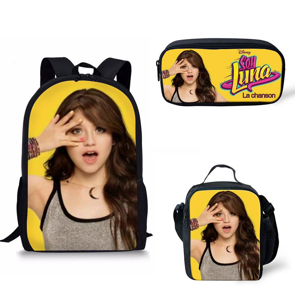 Customized Image hot sale Soy Luna Printing School Bags Kids Boy Backpacks Shoulder Bagpack Children Bookbag Satchel