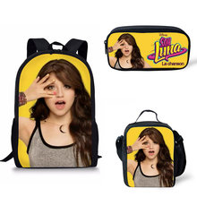 цена на Customized Image hot sale Soy Luna Printing School Bags Kids Boy School Backpacks Shoulder Bagpack Children Bookbag Satchel