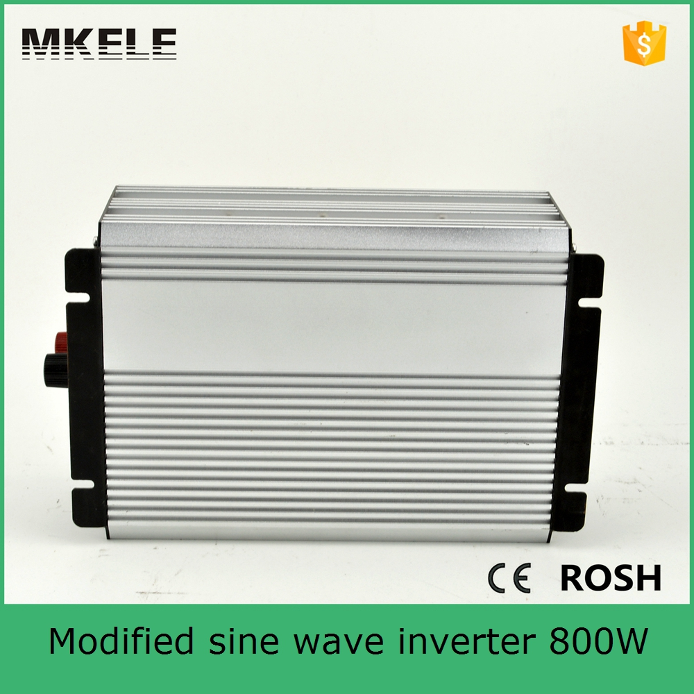 цена на MKM800-241G 800W modified sine wave solar inverter single phase vehicle inverter must inverter 24v to 110/120vac single output
