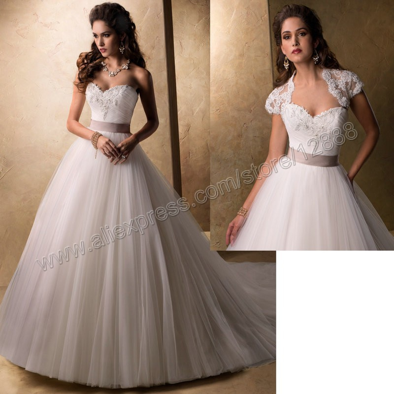 Champagne Ball Gown Wedding Dresses: Ball Gown With Champagne Sash Wedding Dresses Ball Gown
