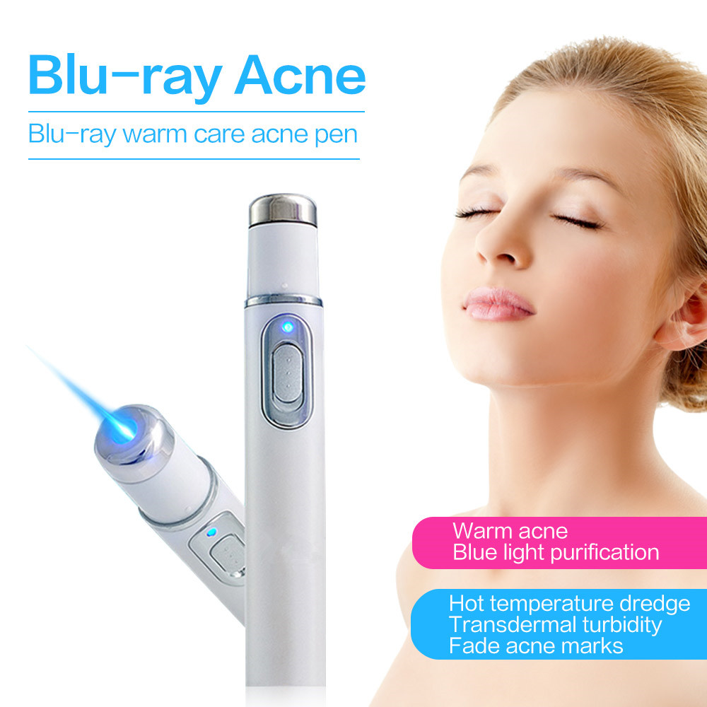 Akne Laser Stift Tragbare Falten Entfernung Narbe Entferner Gerät Blau Lichttherapie Stift KD-7910 Spinne Vene Radiergummi