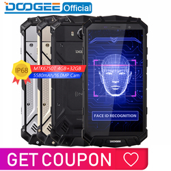 IP68 Water DOOGEE S60 Lite Draadloze Lading 5580mAh 12V2A Quick Charge 5.2 ''FHD MT6750T Octa Core 4GB 32GB Smartphone 16.0MP Cam