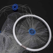3.2m Nylon Fishing Net Monofilament Fish Trap Fishing Mesh Durable Gill Nets Netting for Hand Casting Pesca