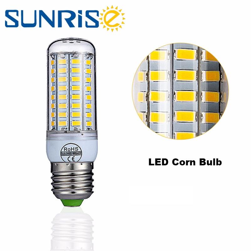 Led Lamp E27 Led Candle Bulb 220V LED E14 Corn Lamp 5730 24 36 48 56 69 72leds Energy Saving Light For Home Chandelier Lighting