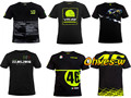 2016 Valentino Rossi VR46 Mens' T-Shirt The Doctor MotoGP 46 Motor Sports M1 Racing T-shirt