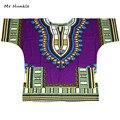 Плюс Размер XXXL Dashiki Футболка 100% Хлопок Африканской Традиционной Печати Dashiki Рубашка для Мужчин быстрая доставка