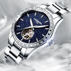 Zwitserland Luxe Rhinestone Vrouwen Horloges 2019 Dames Horloge Automatische mechanische Waterdicht Vrouwelijke Klok relogio feminino