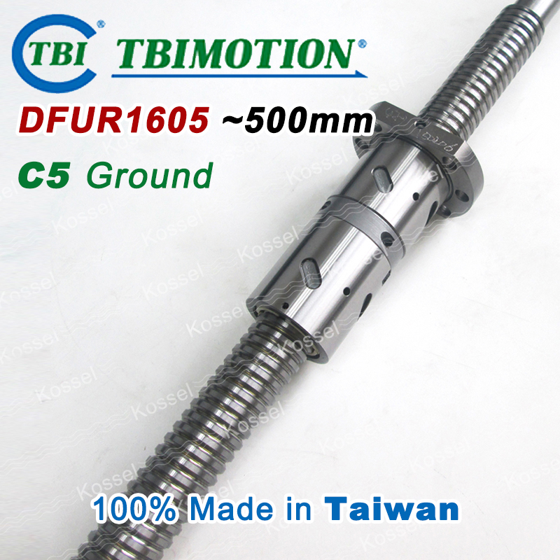 TBI 1605 C5 500mm ball screw 5mm lead with DFU1605 ballnut + end machined for high precision CNC diy kit DFU set горелка tbi 240 5 м esg