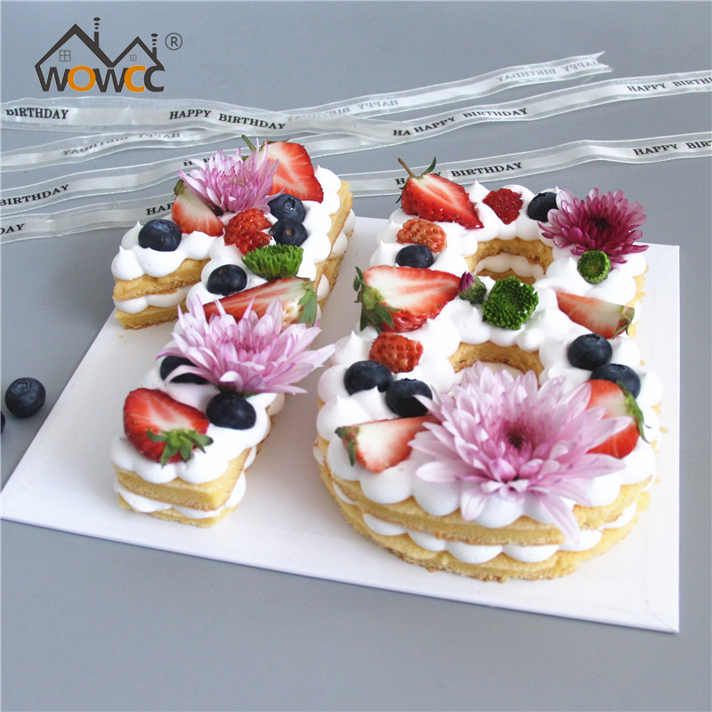 8 10 12 Plastic 0 9 Number Cake Mold Decorating Tools Birthday Design Mould Baking Accessories