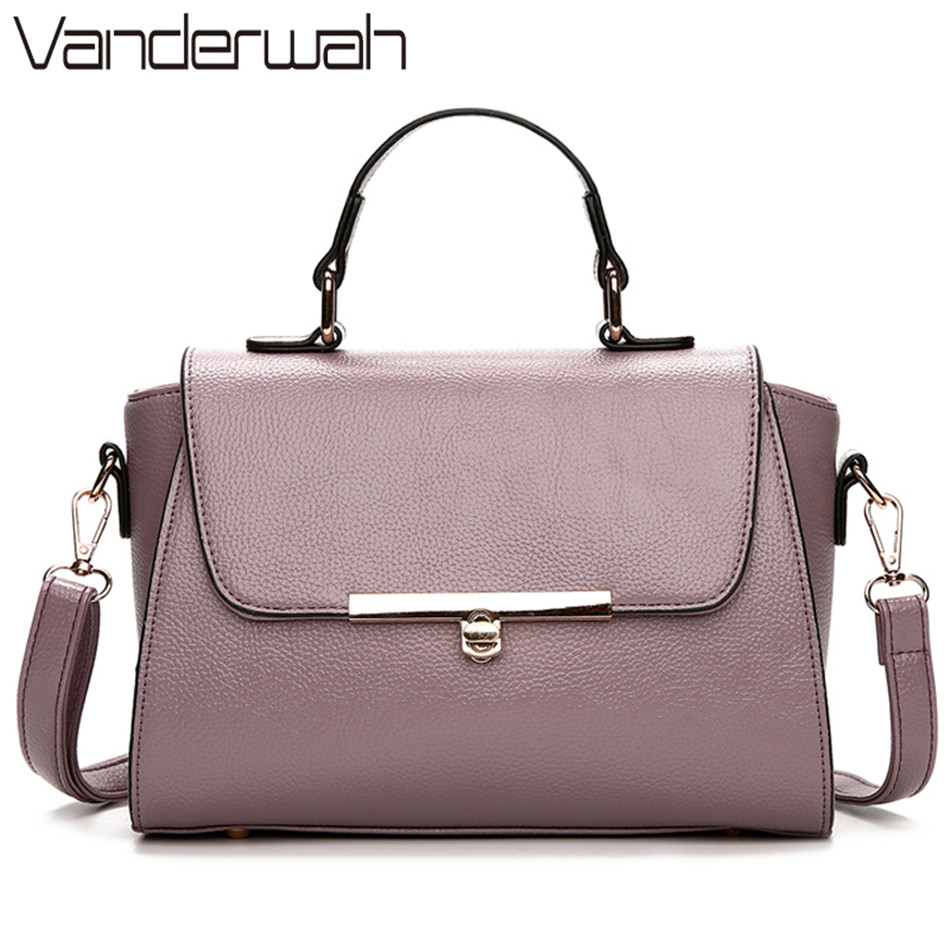 VANDERWAH lock Fashion Tote Bags Handbags Women Famous Brands Designer High Quality PU Leather Ladies Hand Bags Shoulder sac VT6 ysinobear fashion classic ladies handbags women famous brands designer 2018 luxury high quality black pu leather shoulder bags