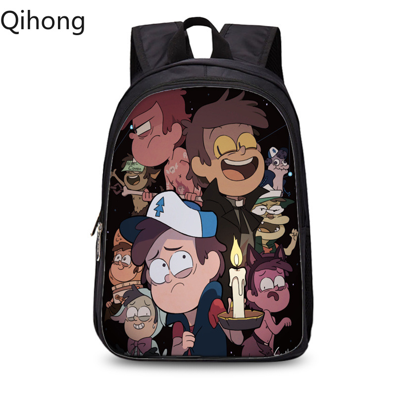 Gravity Falls 3D Cartoon Printing Backpack Children Drawstring Bag Backpack Kids Boys Girls Cute Mini Backpacks Beach Bag Qihong image