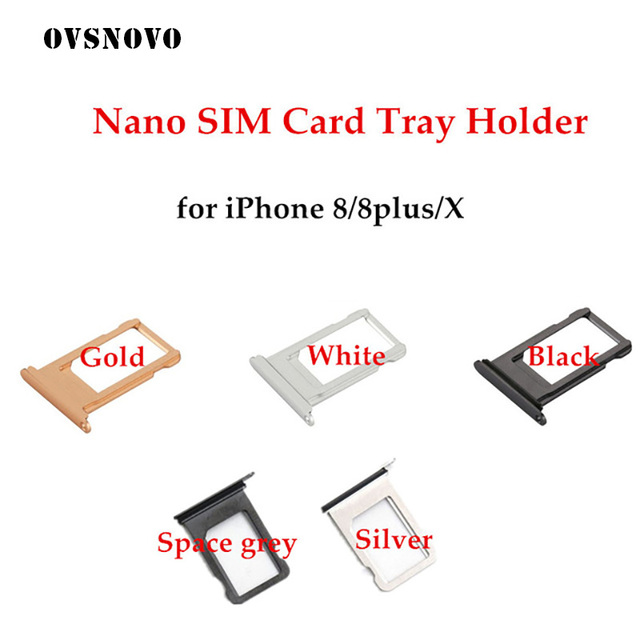 US $0 99  Customize IMEI Number Nano SIM Card Tray Holder For iPhone 8 Plus  X Grey Silver Gold Rose Gold Sim Tray Holder Repair for 8 8p-in SIM Card