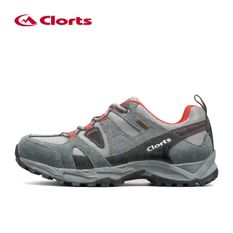 Clorts Men Hiking Shoes Low Cut Cow Suede Outdoor Sport Shoes Breathable Non-slip Trekking Sneakers for Men HKL-828 peak sport men outdoor bas basketball shoes medium cut breathable comfortable revolve tech sneakers athletic training boots