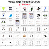 Original Wltoys 12428 12423 RC Car Spare Parts rear Tire/Hub/Receiver/Gasket/Shaft/Cup/Gear/Car shell 12428 Parts 0049-0089
