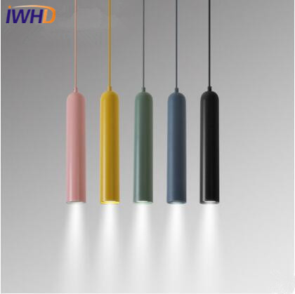 IWHD Modern Simple LED Pendant Lamp Colorful Creative Nordic LED Pendant Light Droplight Loft Hanglamp Fixtures Home Lighting colorful nordic led pendant lights modern simple pendant lamp creative hanglamp fixtures for home lightings lamparas colgantes