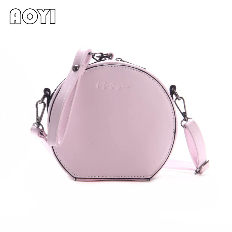 AOYI New Girl Art Fresh Tassel Small Round Bag Retro Oblique Cross Female Bag Mini Casual Portable Shoulder Bag Wrist Handbag 12v 5w white led lamp car trunk luggage compartment light cargo area lamp for vw golf jetta 6000k