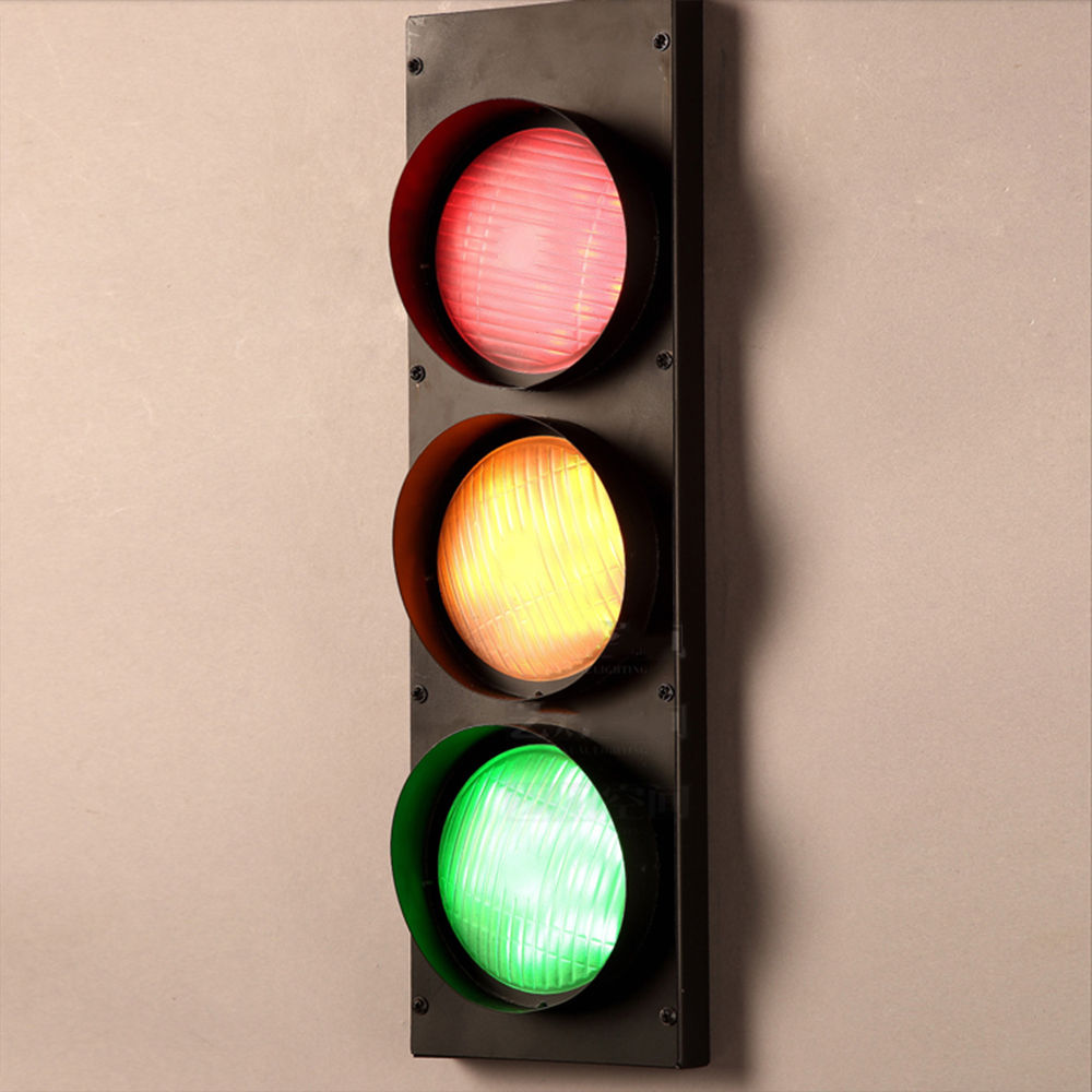 Modern Creative Home Decor Traffic Light Corridor Loft Wall Lamp Fixture Bedroom Reading Room Lighting Corridor Loft Store