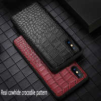 Genuine Leather Business phone case for iPhone X 6 6S 8 8plus All inclusive Anti-fall fashion protective case for iPhone 7 XS XR