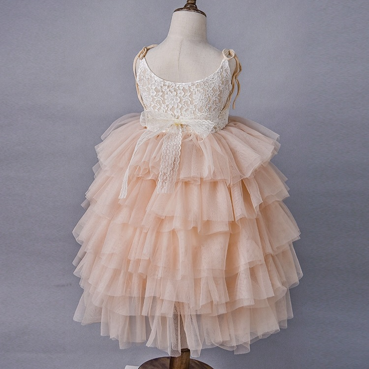 wedding girls tassels lace slip dress with crystal sash belt Princess  birthday party cake dress kids boutique Costume Yelaumoky -in Dresses from  Mother ... 233dc203b219