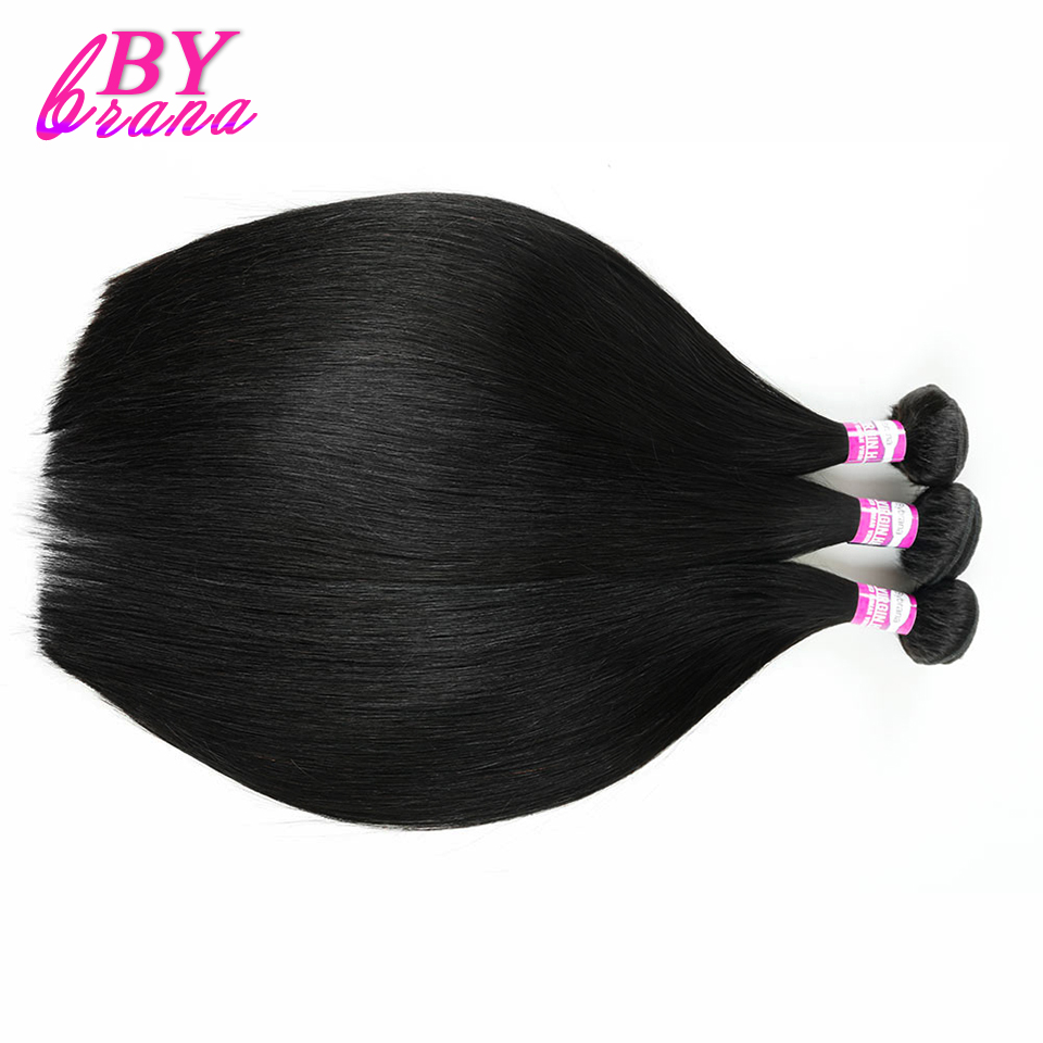 Bybrana Brazilian Straight Hair Human Hair Bundles 1 Piece 8-30inch Natural Color Remy Hair Extension No Tangle Free Shipping