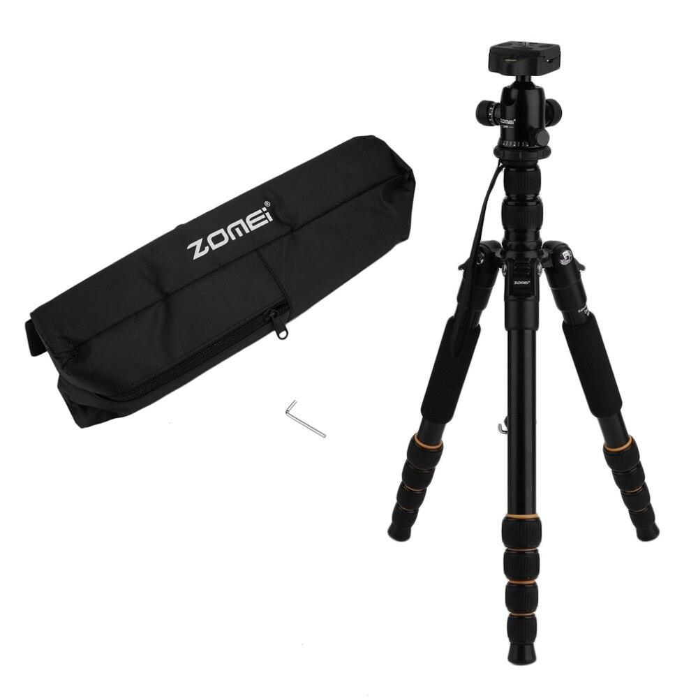 Zomei Q666 Портативный Профессиональный легкий DSLR Камера видеокамера штатив шаровой головкой Кронштейн Стенд для путешествий