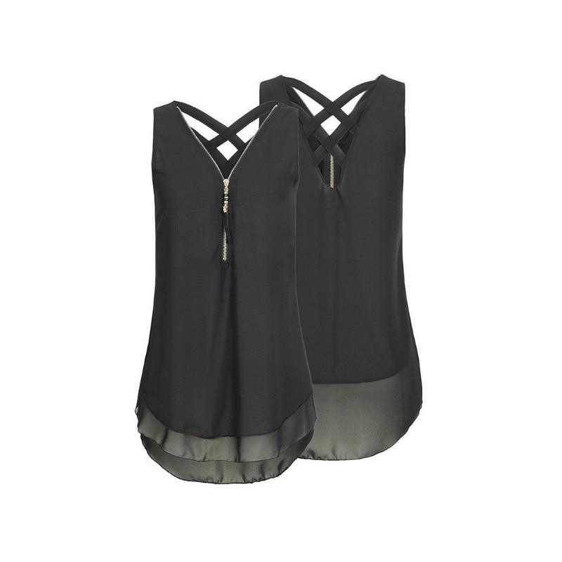 Sleeveless Chiffon Blouses Summer Maternity Vest Chiffon Plus Size Tops Solid Female Zipper Beach Tops For Breastfeeding Woman