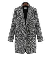elegant women winter wool coats plus size grey warm cotton trench laides velvet thick jacket long overcoat