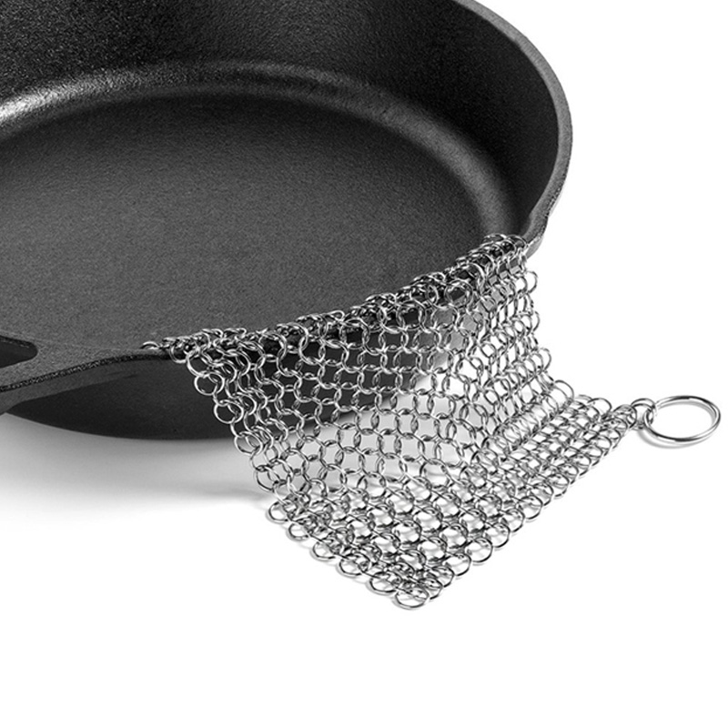 Finger Iron Cleaner Stainless Steel Chainmail Palm Brush Scrubber Kitchen Gadgets Wash Tool Pan Dish Bowl