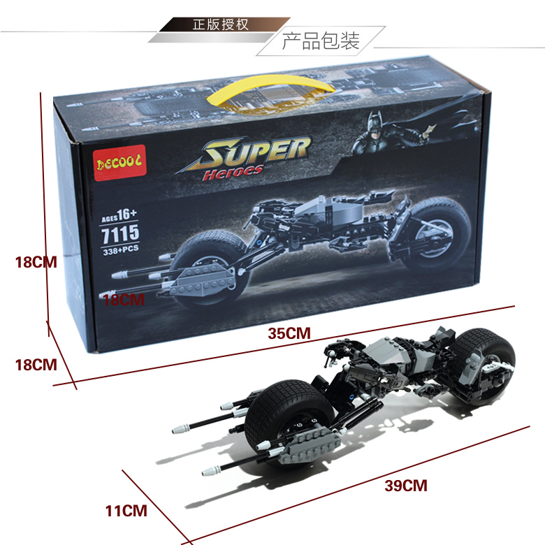 Decool 7115 Super Heroes Batman Bat-Pod Block Brick Toy Boy Game DC Motorcycle Gift Compatible Lepin Bela 5004590 - Luck Love Baby Store store