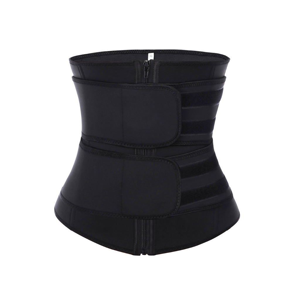 Lover-Beauty 100% Latex Waist Trainer Abdominal Slimming Belt Compression Zipper Plus Size Body Shaper Cincher Corset Fajas