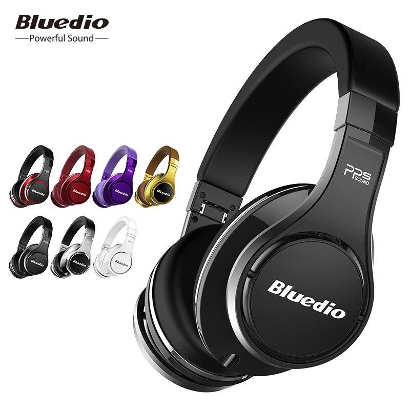 Bluedio original U (OVNI) auriculares Bluetooth patentado 8 conductores HiFi sobre la oreja auricular inalámbrico para Xiaomi con micrófono 3D sonido