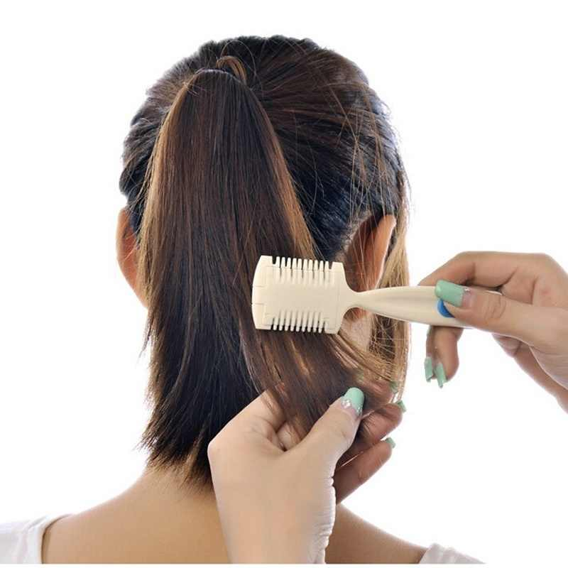 Прочный домашний парикмахерский инструмент для макияжа триммер для стрижки волос Бритва Расческа с лезвием для истончения челки длинные красивые вырезанные аксессуары для волос
